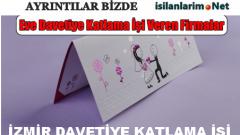 İzmir Evde Davetiye Katlama İşi 2015 ve İş Veren Firmalar