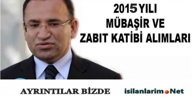 Adalet Bakanlığı Kadrolu ve Sözleşmeli Mübaşir Alımı 2015