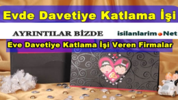 2015 Ankara Evde Davetiye Katlama İşi