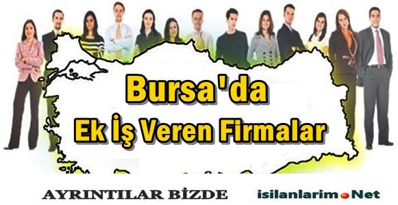 Bursa Ek İş Veren Firmalar 2015