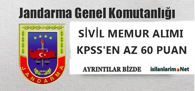 Jandarma Genel Komutanlığı 2014 Sivil Memur Alımı