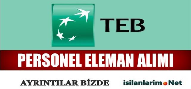 2015 TEB (Türkiye Ekonomi Bankası) Gişe Memuru Alımı