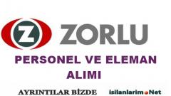 Zorlu Holding 2015 Personel ve Eleman Alımı