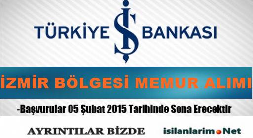 İş Bankası İzmir Bölgesi Memurluk Sınavı 2015