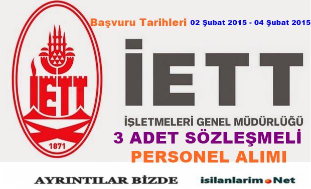 İETT Sözleşmeli Personel Alımı ve Başvurular 2015