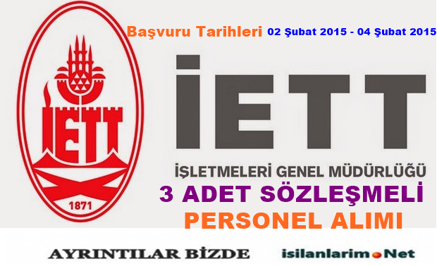 İETT Sözleşmeki Personel Alımı 2015