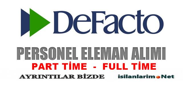 Defacto Part Time Full Time Satış Danışmanı Alımı 2015