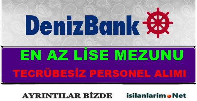 DenizBank Lise Mezunu Personel ve Eleman Alımı 2015