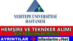 Yeditepe Üniversitesi Hemşire ve Sağlık Personeli Alımı 2015