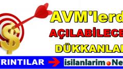 AVM'lerde Açılabilecek Dükkan Fikirleri 2015 Yılı