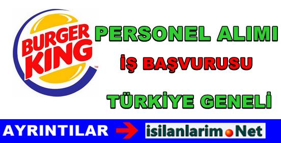 Burger King  Personel ve Eleman Alımı 2015