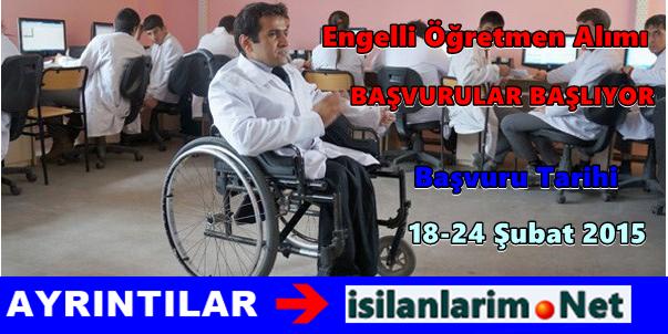 MEB 300 Engelli Öğretmen Alımı Başvuruları 2015