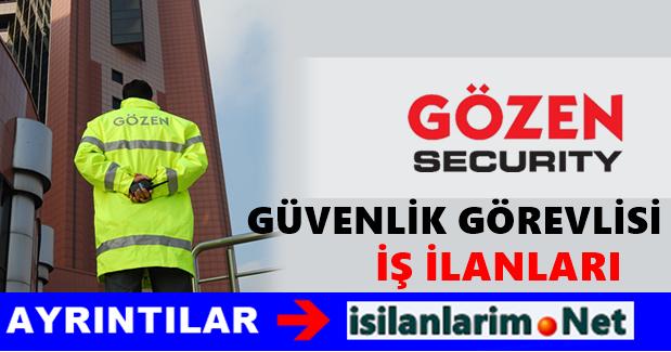 Gözen Güvenlik İş İlanları ve Güvenlik Görevlisi Alımı 2015