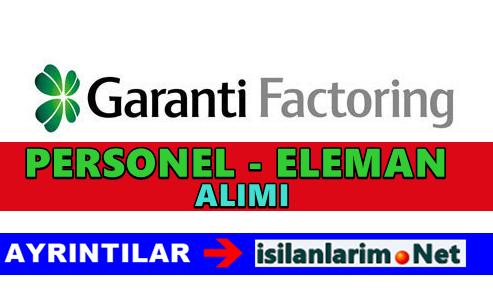 Garanti Factoring Personel ve Eleman Alımı 2015