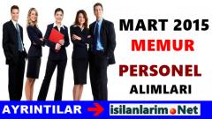 Mart 2015 Memur ve Personel Alımı Olacak Mı