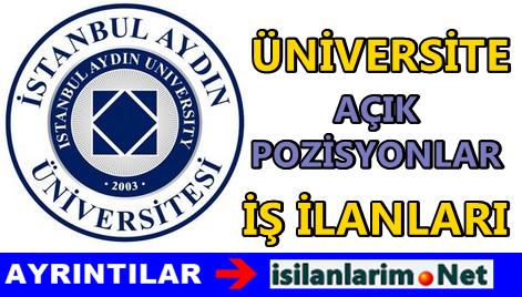 İstanbul Aydın Üniversitesi Personel Alımı 2015