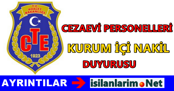 Cezaevi Personeli 2015 Yılı Atama ve Nakil Duyurusu