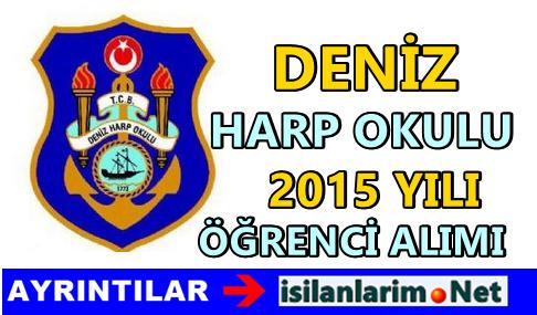 Deniz Harp Okulu 2015 Öğrencilik Başvurusu