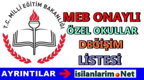 Hangi Özel Okullar Milli Eğitim Bakanlığı Onaylı 2015
