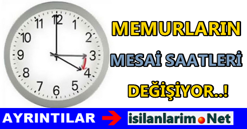 2015 Yaz Saati Uygulaması Memur Mesai Saatleri