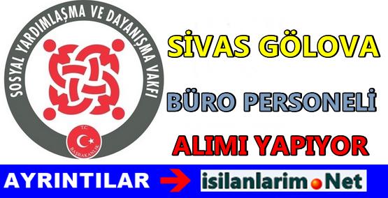 SYDV Sivas Gölova İlçesi Personel Alımı 2015