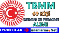 TBMM Personel ve Memur Alımı Yapıyor 2015