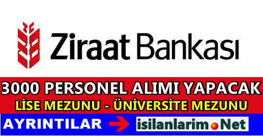 Ziraat Katılım Bankası 3 Bin Personel Alacak 2015