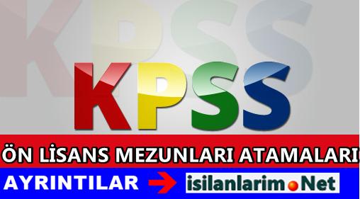 KPSS 2015 Haziran Ön Lisans Atama Bekleyen Bölümler