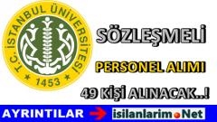 İstanbul Üniversitesi Sözleşmeli Personel Alımı 2015