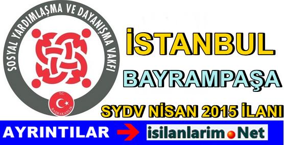 SYDV İstanbul Bayrampaşa Personel Alımı 2015