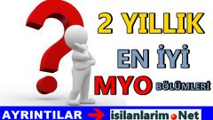 İş Garantisi Olan MYO Bölümleri 2015 Yılı