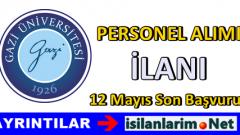 Ankara Gazi Üniversitesi Sözleşmeli Personel Alımı