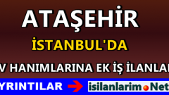 İstanbul Ataşehir Evde Ek İş İmkanları İş Verenler