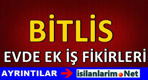 Bitlis Evde Yapılacak Ek İş İlanları ve İş Verenler