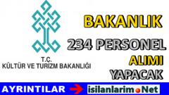 Kültür ve Turizm Bakanlığı 234 Personel Alımı Yapacak