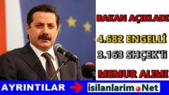 4 Bin 682 Engelli ve 3163 SHÇEK Memur Ataması 2015