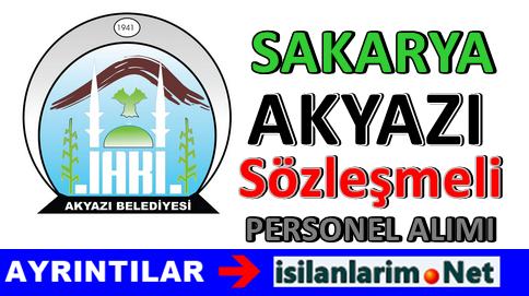 Sakarya Akyazı Belediye Sözleşmeli Personel Alımı