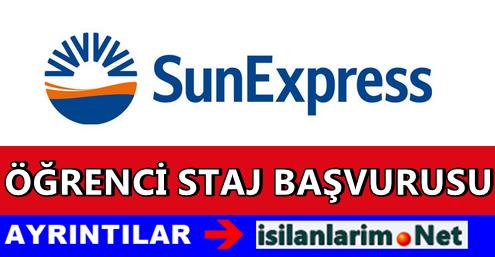 SunExpress 2015 Stajyer Öğrenci Alımı Başvuru