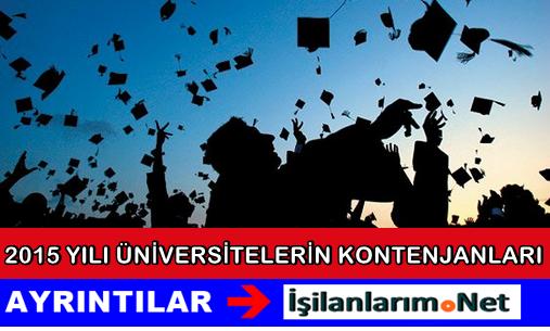 2015 Yılı Üniversite Kontenjan Sayıları Belli Oldu