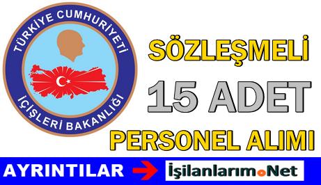 İçişleri Bakanlığı 15 Bilişim Personeli Alımı İlanı 2015