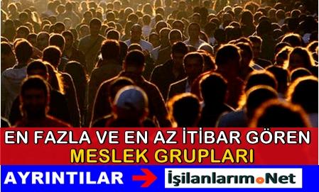 Türkiye'de En Fazla ve En Az İtibar Gören Meslekler