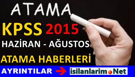 2015 KPSS Memur Atamaları Açıklanan Kadro Dağılımı