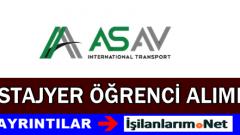 As-Av Uluslararası Taşımacılık Stajyer Öğrenci Alımı