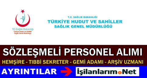 Türkiye Hudut ve Sahiller Sağlık Müdürlüğü Personel Alımı