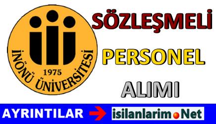 İnönü Üniversitesi Sözleşmeli Personel Alımı 2015