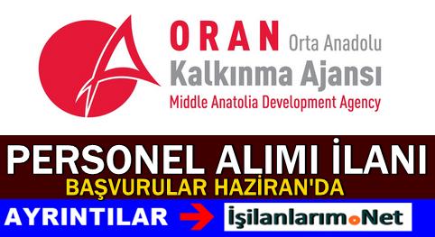 Orta Anadolu Kalkınma Ajansı Personel Alımı İlanı