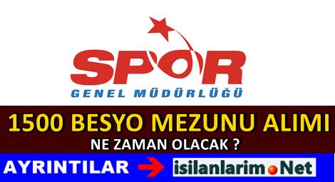 Spor Genel Müdürlüğü 1500 Kadro Talep Etti 2015