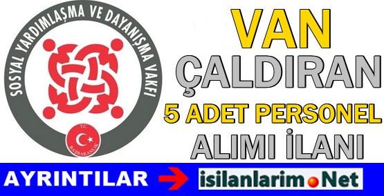 Van Çaldıran SYDV 2015 Personel Görevli Alımı