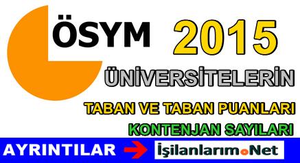 2015 Yılı ÖSYM Üniversite Tercih ve Kontenjan Kılavuzu