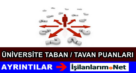 2014-2015 ÖSYM Üniversite Taban ve Tavan Puanları